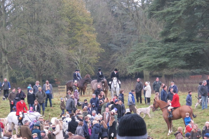 A fox hunt meet I watched on Boxing Day